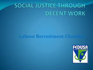 social justice through  Decent work