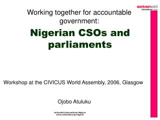 Nigerian CSOs and parliaments