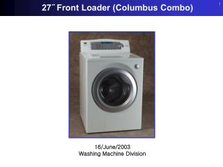 16/June/2003 Washing Machine Division