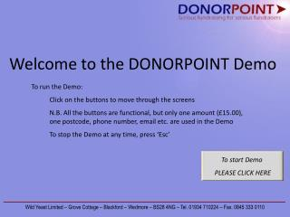 Welcome to the DONORPOINT Demo