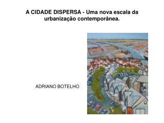 A CIDADE DISPERSA - Uma nova escala da urbanização contemporânea.