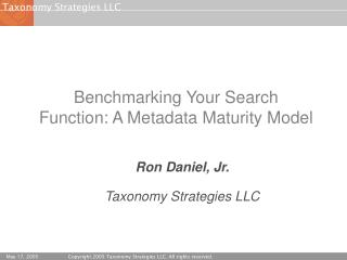 Benchmarking Your Search Function: A Metadata Maturity Model