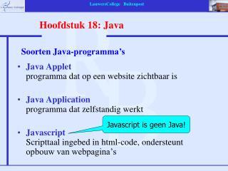 Java Applet programma dat op een website zichtbaar is