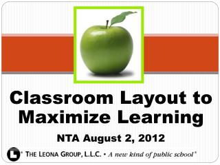 Classroom Layout to Maximize Learning NTA August 2, 2012
