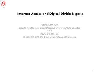 Internet Access and Digital Divide-Nigeria