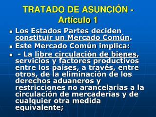 TRATADO DE ASUNCIÓN - Artículo 1