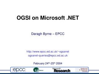 OGSI on Microsoft .NET
