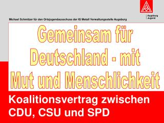 Michael Schmitzer für den Ortsjugendausschuss der IG Metall Verwaltungsstelle Augsburg