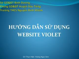 Sở  GD&ĐT  Bình Dương Phòng  GD&ĐT  Huyện Dầu Tiếng Trường  THCS  Nguyễn Bỉnh Khiêm
