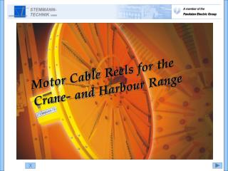 Motor Cable Reels for the Crane- and Harbour Range