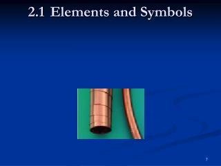 2.1Elements and Symbols