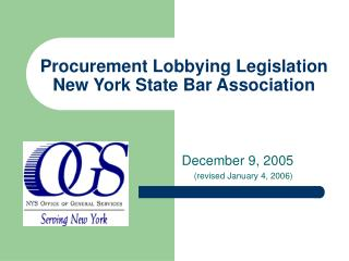 Procurement Lobbying Legislation New York State Bar Association