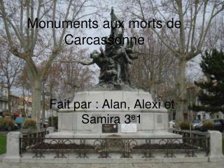 Monuments aux morts de Carcassonne