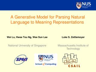 A Generative Model for Parsing Natural Language to Meaning Representations