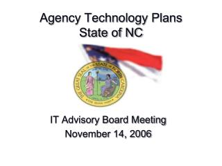 Agency Technology Plans State of NC