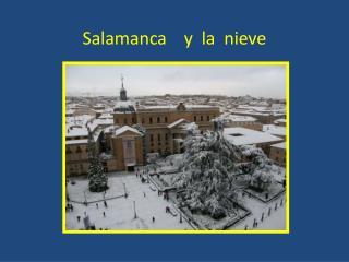 Salamanca    y  la  nieve