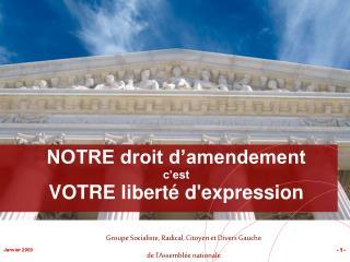 NOTRE droit d'amendement c'est VOTRE liberté d'expression