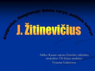 Atliko: Kauno rajono Ežerėlio vidurinės mokyklos 11b klasės mokinys  Vytautas Lukerovas