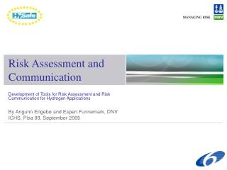 Risk Assessment and Communication