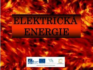 ELEKTRICK�  ENERGIE