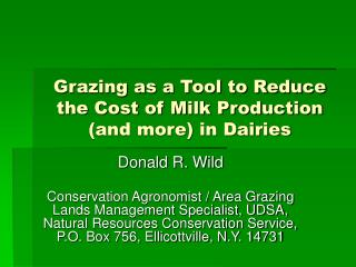Grazing as a Tool to Reduce the Cost of Milk Production  (and more) in Dairies