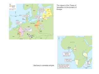 The impact of the Treaty of Versailles on the borders of Europe.