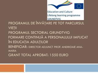 Instituţia organizatoare : Aeschylou Arcade  din Nicosia, Cipru Perioada :  19-24 iulie 2011