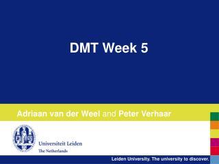 DMT Week 5