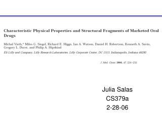 Julia Salas CS379a 2-28-06