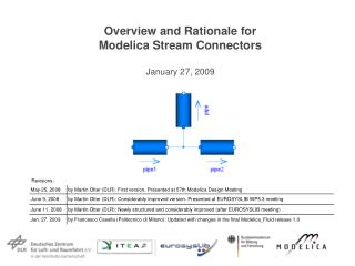 Overview and Rationale for Modelica Stream Connectors  January 27, 2009