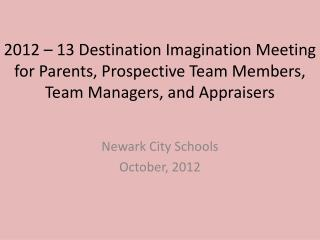 Newark City Schools October, 2012