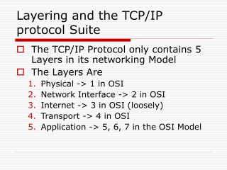 Layering and the TCP/IP protocol Suite