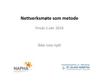 Nettverksmøte  som metode Finsås  1.okt. 2014