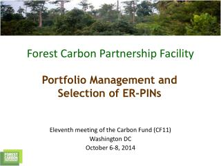 Eleventh meeting of the Carbon Fund (CF11)   Washington DC October 6-8, 2014