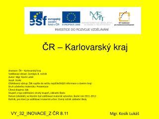 ČR – Karlovarský kraj