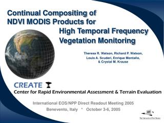 Continual Compositing of  NDVI MODIS Products for