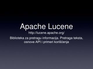 Apache Lucene lucene.apache/