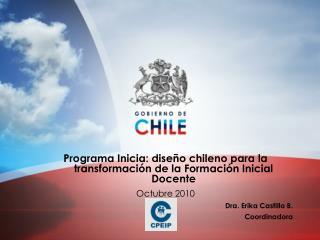 Programa Inicia: diseño chileno para la transformación de la Formación Inicial Docente
