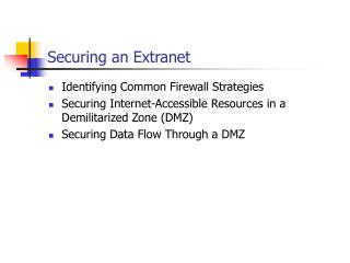 Securing an Extranet