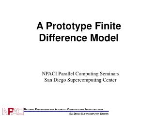 A Prototype Finite Difference Model