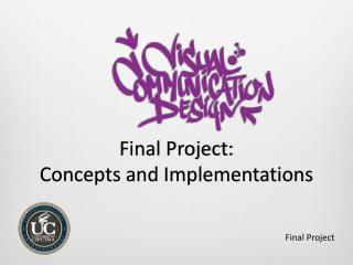 Final Project:  Concepts and Implementations