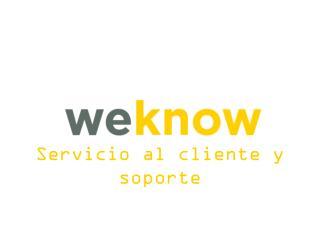 Servicio al  cliente y soporte