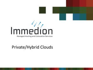 Private/Hybrid Clouds