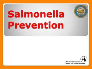 Salmonella Prevention