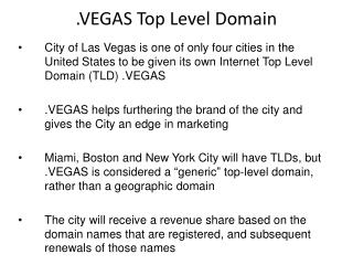 .VEGAS Top Level Domain
