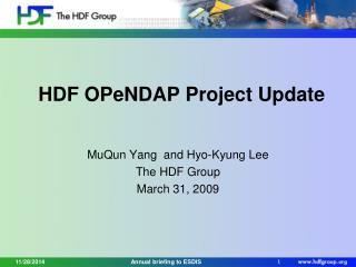 HDF OPeNDAP Project Update