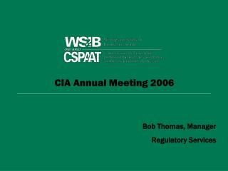 CIA Annual Meeting 2006