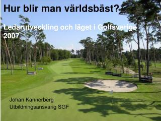 Hur blir man världsbäst? Ledarutveckling och läget i Golfsverige 2007