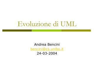 Evoluzione di UML