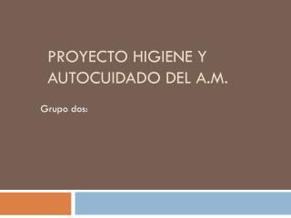Proyecto higiene y autocuidado del A.m.